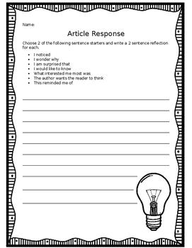 Article Response