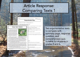 Article Response Comparing Texts 1: Argumentative Essays