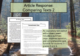 Article Response Comparing Texts 2