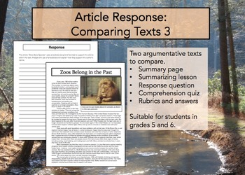 Article Response Comparing Texts 3