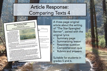 Article Response Comparing Texts 4