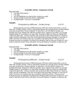 Article - Response Format