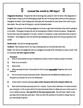 Article Summary Assignment