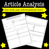Article Summary and Analysis One Pager: Use With Any Infor