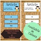 Article Wall | Parts of Speech Posters | Grammar Posters |  Articles Printable