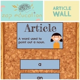 Article Wall | Parts of Speech Posters | Grammar Posters |