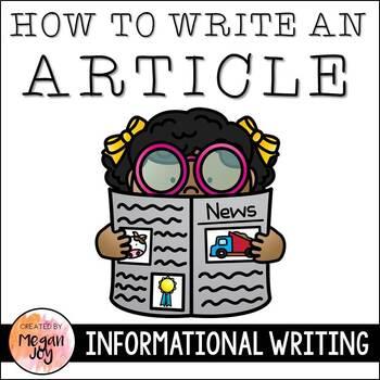 Article Writing Mini-Unit