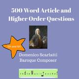 Article and Higher Order Questions: Domenico Scarlatti 5th