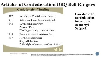 Article of Confederation DBQ Bell Ringers