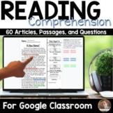 Article of the Day Passages for Google Classroom™ for Grades 3-5