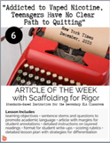 """Article of the Week #6: """"Addicted to Vaped Nicotine.."""" (He"""