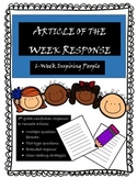 Informational Article Response 6-Week Set: Inspiring People Theme #BTS19