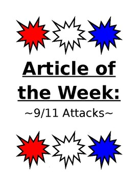Article of the Week- Patriot Day (9/11 Attacks)