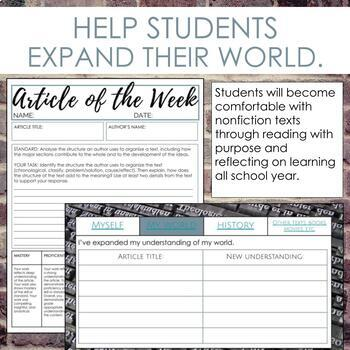 Article of the Week Activity for Secondary ELA