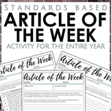 Distance Learning Article of the Week Activity for Secondary ELA