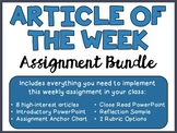Article of the Week Assignment Intro, Volume 2