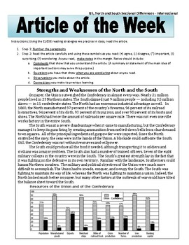 Article of the Week Bell Ringer North and South Sectional Differences