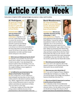 Article of the Week Bell Ringer Pearl Harbor