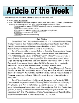 Article of the Week Bell Ringer: Tennesseans in the Civil War