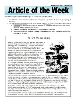 Article of the Week Bell Ringer Atomic Bomb
