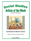 Article of the Week Bell Ringer Contribution of Muslim Scholars