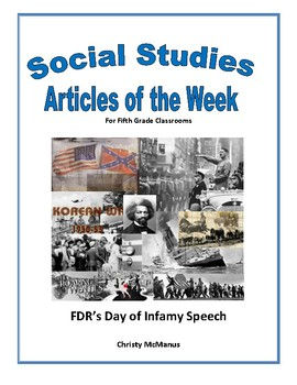 Article of the Week Bell Ringer FDR Day of Infamy Speech