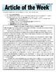 Article of the Week Bell Ringer: Frederick Douglass