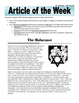 Article of the Week Bell Ringer Holocaust During WWII