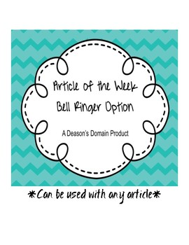 Article of the Week Bell Ringer Option