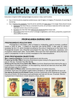 Article of the Week Bell Ringer Propaganda During WWII