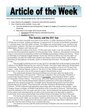 Article of the Week Bell Ringer The Sunnis and the Shi'ites