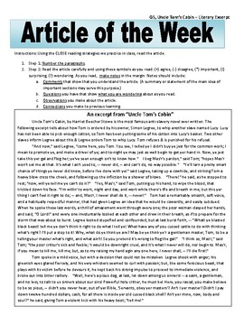 Article of the Week Bell Ringer: Uncle Tom's Cabin