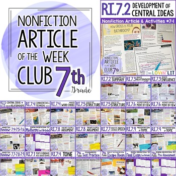 Article of the Week Club, 7th Grade | Nonfiction Reading Passages