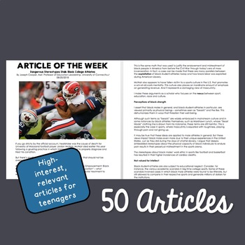 Article of the Week: Entire Year Set (51 Articles)