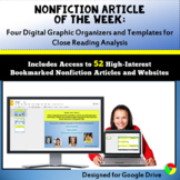 for Google Classroom: Informational Text Graphic Organizers, Nonfiction Analysis