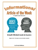 Article of the Week Growth Mindset