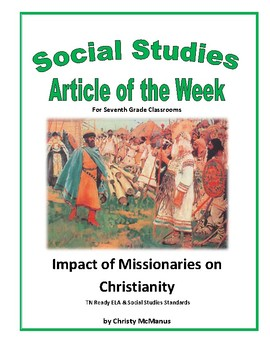 Article of the Week Impact of Missionaries on Christianity