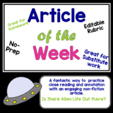 Article of the Week- Is there Alien Life Out There? Middle