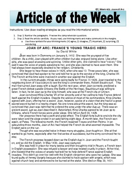 Article of the Week Joan of Arc