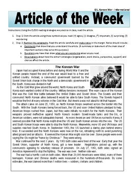 Article of the Week Korean War