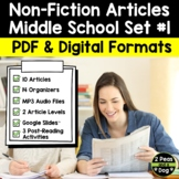 Article of the Week Non-Fiction Articles High Interest Bundle #1