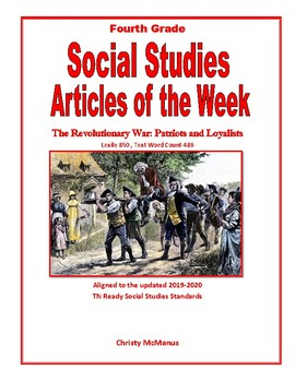 Article of the Week Patriots and Loyalists