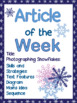 Article of the Week- Photographing Snowflakes