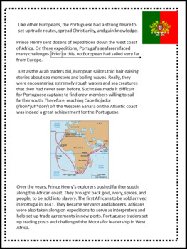Article of the Week- Prince Henry the Navigator- Middle Grades