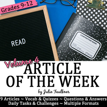 Article of the Week, Reader's Notebooks, Volume 4