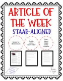 "Article of the Week - STAAR-Aligned Questions (""Harry Potter"")"