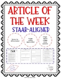 Article of the Week - STAAR-Aligned Questions (Buffalo)