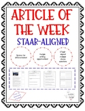 Article of the Week - STAAR-Aligned (Remembering 9/11)
