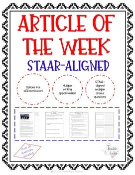 Article of the Week - STAAR-Aligned (Remembering 9/11)