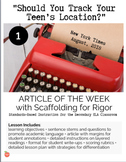 """Article of the Week #1 """"Should You Track Your Teen's Locat"""